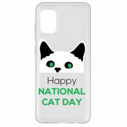 Чехол для Samsung A31 Happy National Cat Day