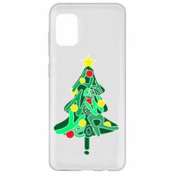 Чохол для Samsung A31 Happy new year on the tree
