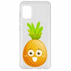 Чехол для Samsung A31 Happy pineapple