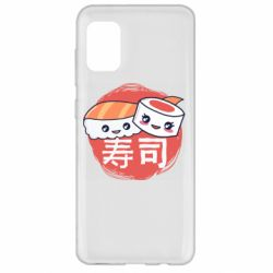 Чехол для Samsung A31 Happy sushi