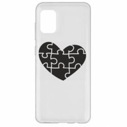 Чехол для Samsung A31 Heart and puzzle