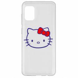 Чехол для Samsung A31 Hello Kitty logo