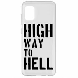 Чехол для Samsung A31 High way to hell