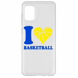 Чехол для Samsung A31 I love basketball
