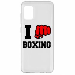 Чехол для Samsung A31 I love boxing