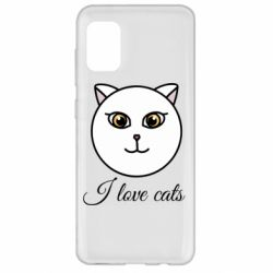Чохол для Samsung A31 I love cats art