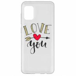 Чохол для Samsung A31 I love you and heart