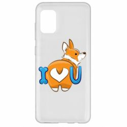 Чехол для Samsung A31 I love you corgi