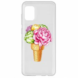 Чохол для Samsung A31 Ice cream flowers