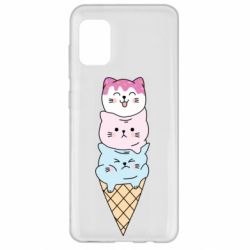 Чехол для Samsung A31 Ice cream kittens
