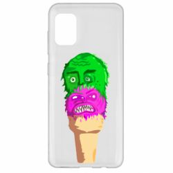 Чехол для Samsung A31 Ice cream with face