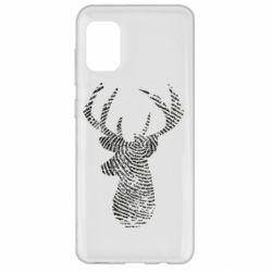 Чохол для Samsung A31 Imprint of human skin in the form of a deer