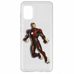 Чехол для Samsung A31 Iron man with the shadow of the lines