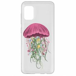 Чехол для Samsung A31 Jellyfish and flowers