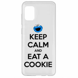 Чехол для Samsung A31 Keep Calm and Eat a cookie