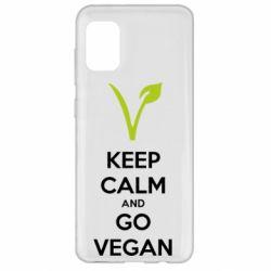 Чехол для Samsung A31 Keep calm and go vegan