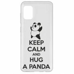 Чохол для Samsung A31 KEEP CALM and HUG A PANDA