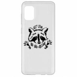 Чохол для Samsung A31 Keep calm and hug a raccoon