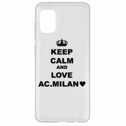 Чохол для Samsung A31 Keep calm and love AC Milan