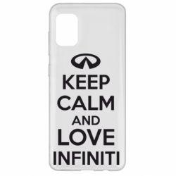 Чехол для Samsung A31 KEEP CALM and LOVE INFINITI