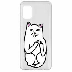 Чехол для Samsung A31 Кот с факом