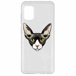 Чохол для Samsung A31 Котя сфінкс жовті очі