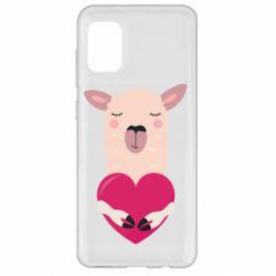 Чохол для Samsung A31 Lama with heart