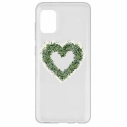 Чехол для Samsung A31 Lilies of the valley in the shape of a heart