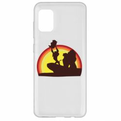 Чехол для Samsung A31 Lion king silhouette