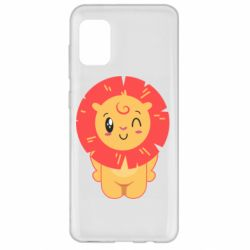 Чехол для Samsung A31 Lion with orange mane