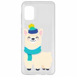 Чехол для Samsung A31 Llama in a blue hat
