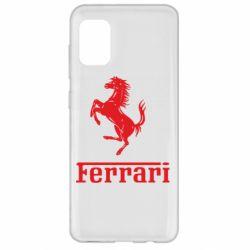 Чехол для Samsung A31 логотип Ferrari
