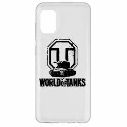Чехол для Samsung A31 Логотип World Of Tanks