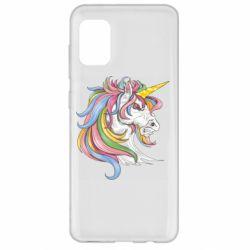 Чохол для Samsung A31 Кінь з кольоровою гривою