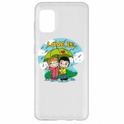 Чохол для Samsung A31 Love is ... in the rain