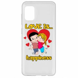 Чохол для Samsung A31 love is...happyness