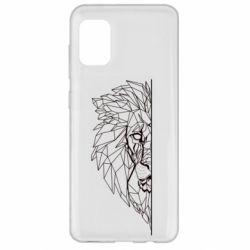 Чохол для Samsung A31 Low poly lion head