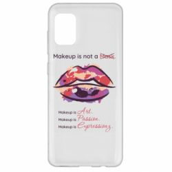 Чехол для Samsung A31 Make Up Is Not A Mask Lips
