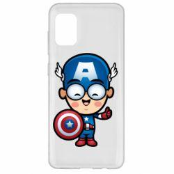 Чехол для Samsung A31 Маленький Капитан Америка