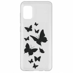 Чохол для Samsung A31 Many butterflies