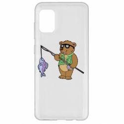 Чохол для Samsung A31 Ведмідь ловить рибу