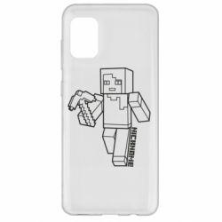 Чехол для Samsung A31 Minecraft and hero nickname