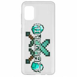 Чохол для Samsung A31 Minecraft алмазний меч