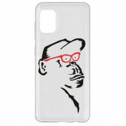 Чохол для Samsung A31 Monkey in red glasses