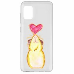 Чохол для Samsung A31 Морська свинка і сердечко
