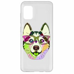 Чохол для Samsung A31 Multi-colored dog with glasses