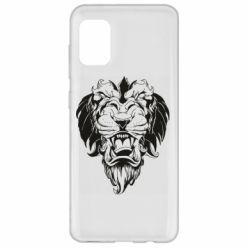 Чехол для Samsung A31 Muzzle of a lion
