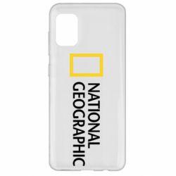 Чехол для Samsung A31 National Geographic logo