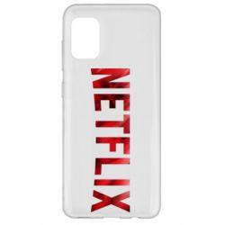 Чехол для Samsung A31 Netflix logo text