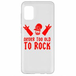 Чехол для Samsung A31 Never old to rock (Gomer)